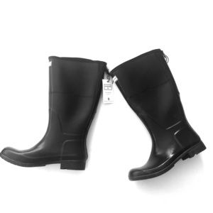 Hunter for Target Womens 9 wide calf black boots